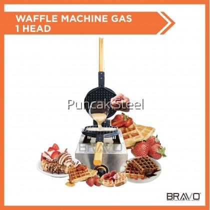 Bravo [Waffle Gas 1 Head] Commercial Waffle Maker Machine Round Shape Standard Size for waffle kiosk, cafe, restaurant, hotel Snack food dessert