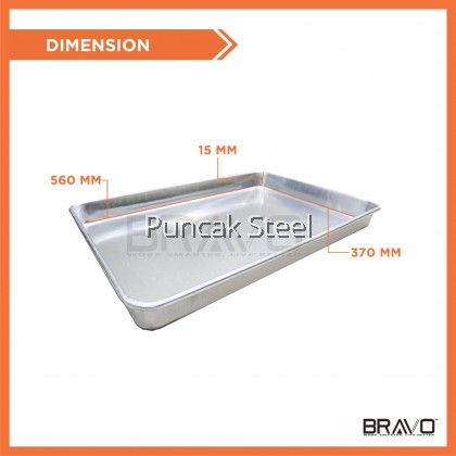Bravo [24x16x2 Inch] @ [61x41x5 CM] Commercial Thick Quality Heavy Duty Aluminium Baking Cake Cookie Muffin Cooling Tray Pan [BUY MORE SAVE MORE]