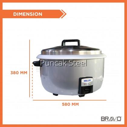 MILUX 10L Commercial Electric Rice Cooker Capacity 10 L /50P MRC5200 Periuk Nasi Elektrik Kapasiti Besar Untuk Kenduri Restoran Hotel Kedai Makan Catering