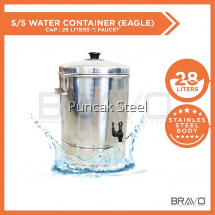 Stainless Steel Water Container Capacity 28 Litres *1 FAUCET