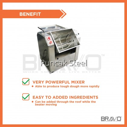 Stainless Steel Flour Mixer Capacity 15KG Come With 2HP Motor