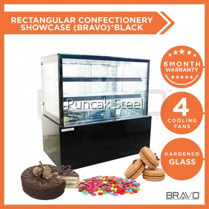 4 Feet Rectangular Confectionery Showcase *Black