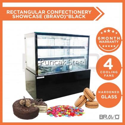 5 Feet Rectangular Confectionery Showcase *Black