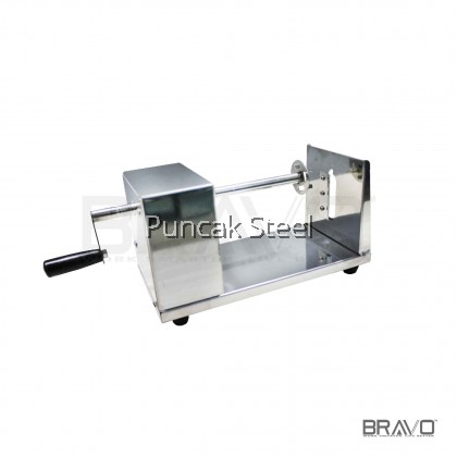 BRAVO Stainless Steel Twisted Potato Slicer (Mesin Kentang Spring)